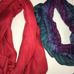 Two Infinity Scarves